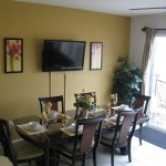 "Enjoy a beautiful dining room that also has a large 50"" Plasma TV so you won't miss a thing!"