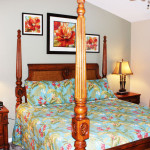 "Master bedroom with a king-size bed, 46"" Plasma TV and private full bath."